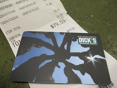 Dick's Sporting Goods Merchandise Gift Card $79.59 Value