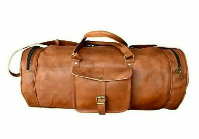 """Stylish Men's Leather Holdall Luggage Weekend Duffel AirCabin Travel Gym Bag 30"""""""