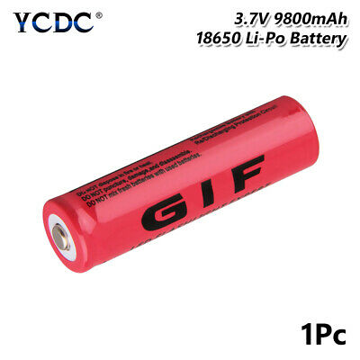 18650 Battery Rechargeable 3.7V 9800mAh GIF Li-ion Cell For Flashlight Torch 9D