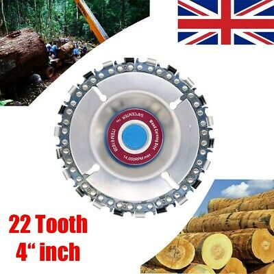 "4"" Angle Grinder Disc 22 Tooth Chain Saw for Carving Wood Plastic Cutting Tool"