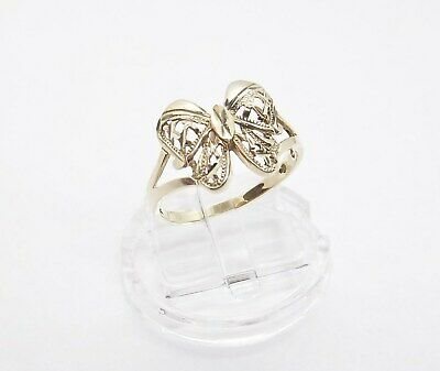 6725009a9f5bb VINTAGE SOLID 14K Gold Butterfly Ring Size 10 - $159.00 | PicClick