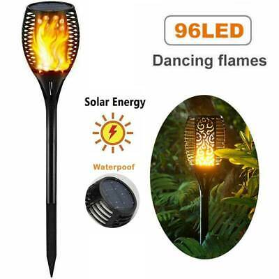 4/6 Pack 96 LED Flickering landscape Lamp Dancing Flame Solar Torch Garden Light