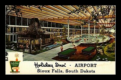 Dr Jim Stamps Us Holiday Inn Airport Sioux Falls Solardome Postcard