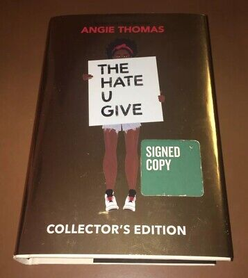 Angie Thomas Signed The Hate U Give Collector's Edition Hardcover Book