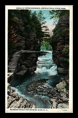 Dr Jim Stamps Us Ithaca Watkins Glen New York Ct American Postcard