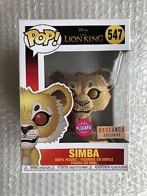 Funko POP THE LION KING 2019 SIMBA FLOCKED #547 Vinyl Figure BOXLUNCH EXCLUSIVE