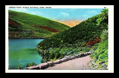 Dr Jim Stamps Us Jordan Pond Acadia National Park Maine Postcard Tichnor