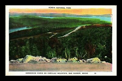 Dr Jim Stamps Us Horseshoe Curve Cadillac Mountain Acadia National Park Postcard
