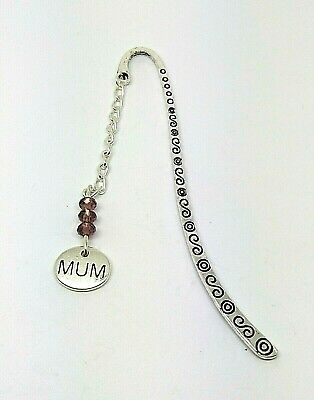 Mum Purple Crystal Faceted Thank you Birthday Christmas Gift Bookmark