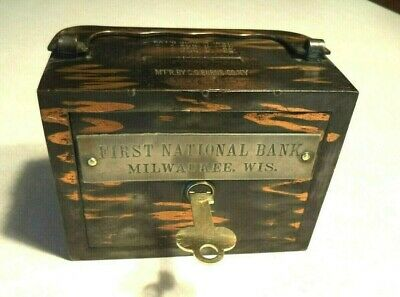 C.O.BURNS CO. FIRST NATIONAL BANK of MILWAKEE, WISC.1 KEY #3916  NEEDS REPAIR