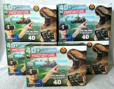 LOT 4D+ Dinosaur Experience Augmented Reality Cards + VR Virtual Reality Headset