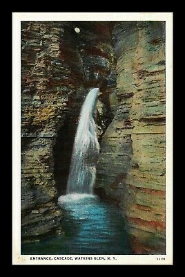 Dr Jim Stamps Us Cascade Watkins Glen New York View Postcard