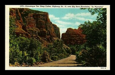 Dr Jim Stamps Us Ten Sleep Canyon Highway 16 Wyoming Postcard