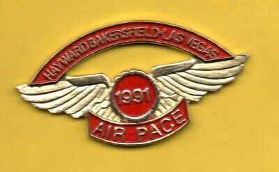 Pin's lapel pins AVIATION AIR PACE 1991 HAYWARD BAKERSFIELD LAS VEGAS Wings Aile