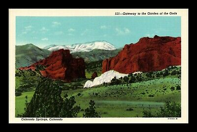 Dr Jim Stamps Us Gateway Garden Of The Gods Colorado Springs Postcard