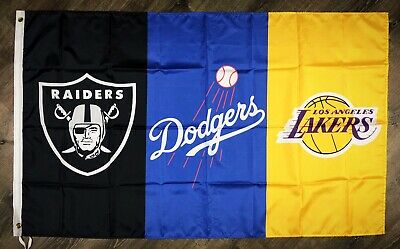 Los Angeles Dodgers Lakers Oakland Raiders Flag 3x5 ft Banner Man-Cave NFL MLB