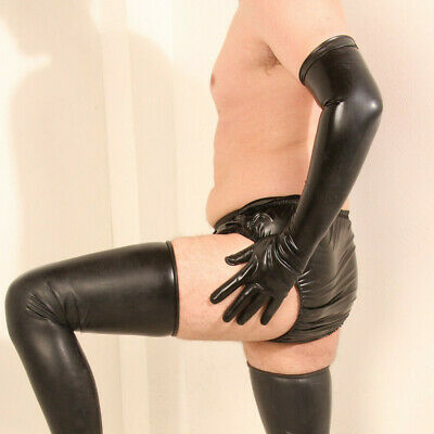 Latex Handschuhe Gr XL schwarz Latexhandschuhe black Rubber Gummi Fetish Domina