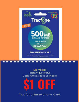 Tracfone Prepaid Wireless SmartPhone Plan - 30 Day Airtime Instant Code Delivery