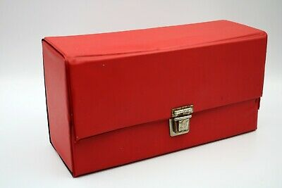 Vintage Cassette Tape Red Storage Box Case