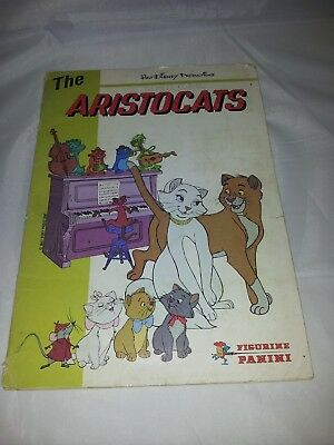 The Aristocats Sticker Album from 1980 : Vintage Panini : 100% Complete .