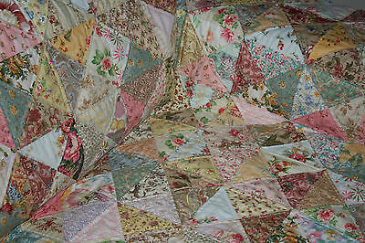 """SHABBY CHICK - 58.5"""" x 58.5"""" - Pre-cut Quilt Kit by Quilt-Addicts Lap size"""