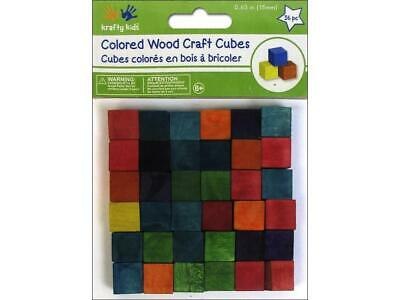 Multicraft Mulcw301  Wood Craft Cubes 5 8 Color 36Pc