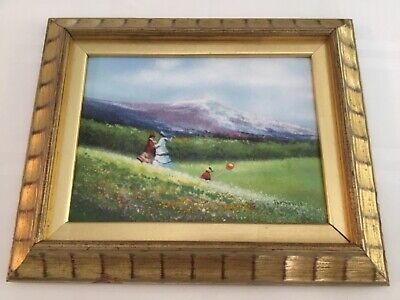 Charles Parthesius Listed Artist Enamel On Copper Impressionist Painting Signed
