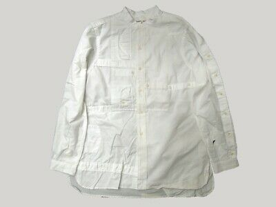 REBUILD BY NEEDLES Nepenthes NY Band Collar Shirt White L
