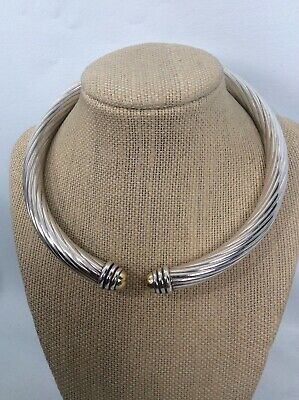 Ilias Lalaounis Greece Sterling  Silver 925 18k Collar Hinge necklace