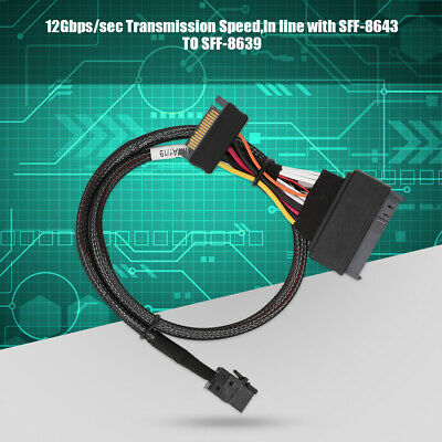 """U2 SFF-8639 NVMe PCIe to Mini SAS SFF-8643 SSD Adapter Cable For 2.5"""" NVMe SSD"""