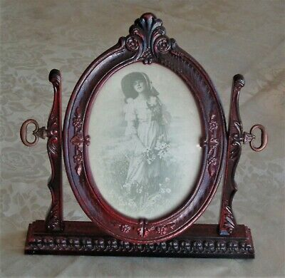 Vintage Ornate Rococo French Provincial Style Timber Photo Frame Rosewood Stain
