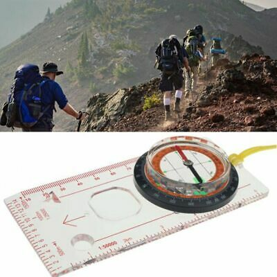 UK Beginners Compass Orienteering Navigation Magnifier Scouts Army Cadets Hiking