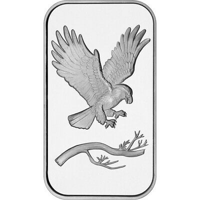 1 Oz Silvertowne Eagle Silver Bullion ingot .999 bar.