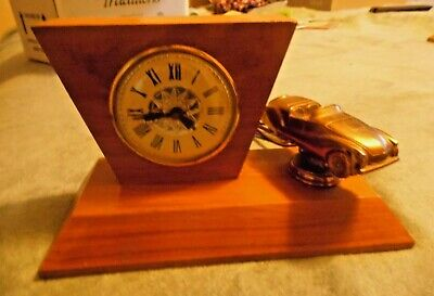 Vintage Bronze Motor Vehicle  Mantle Clock Lanshire Mvmnt Electric Chicago, USA