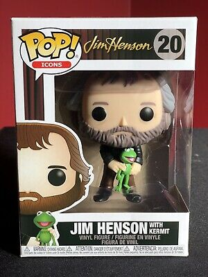 Funko POP! Icons Jim Henson With Kermit #20 New with Pop Protector!