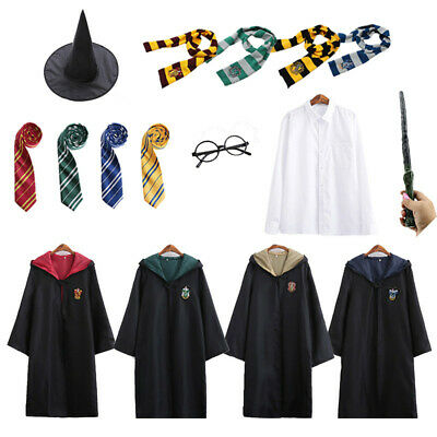 Harry Potter School Uniform Magic Robe Gryffindor Slytherin Cosplay Costumes Set