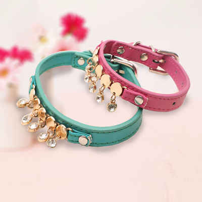 Bling Rhinestone Small Cat Dog Collar Personalized Puppy Chihuahua Neck Collars