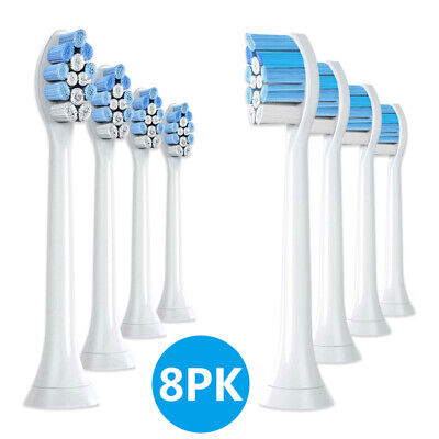 8PCs HX9034 HX9033 Tooth Brush Replacement Heads PHILIPS SONICARE CLEAN