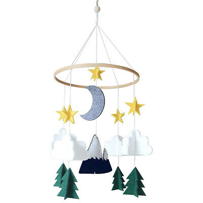 Baby Crib Hanging Ornament Mobile Ornament Starry Woodland Night Nursery Decor