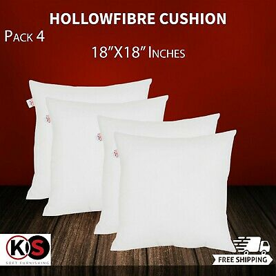 Pack of 4 Extra Deep Filled 18x18 Inches Cushion Pads Inserts Fillers Scatter