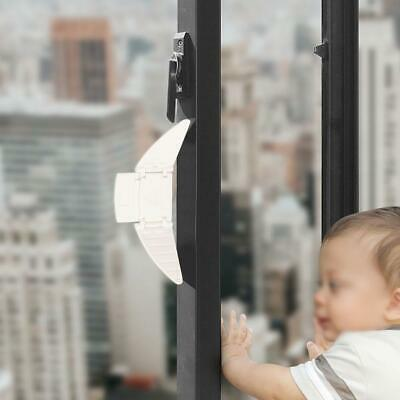 2X Magnetic Safety White Cupboard Lock Baby Child Pet Proof Window Security