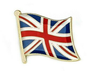 UK GB United Kingdom England Great Britain Metal Flag Union Jack Pin Badge