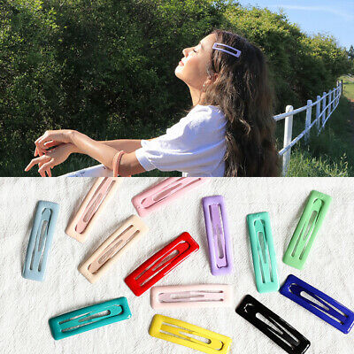 Women Fashion Simple Geometry Metal Side Clip Hair Snap HairPin Barrette Jewelry