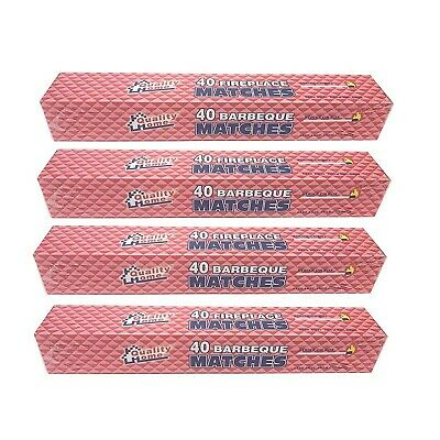 """4 BOXES - 11"""" Fireplace Matches, Long Reach, 160 Matches Total by Quality Home"""