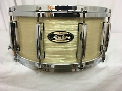 """Pearl Masters MMG 14"""" Snare Drum/Platinum Gold Oyster/#453/Maple-Gum Shell/NEW"""