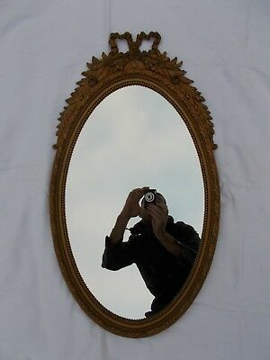 Miroir Vintage Noeud Asymetrique Antique Mirror Hollywood Regency Shabby Chic
