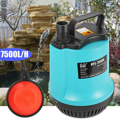 Electric Submersible Pump For Clean Or Dirty Water Flood Pool Garden Well Pond