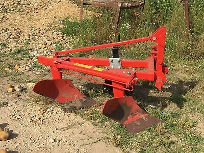 NAM01. Compact Double Furrow Plough for a compact Tractor, Farming, turf,