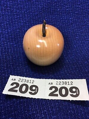 Wooden /wood Apple Maple Ornament Ab209/s4