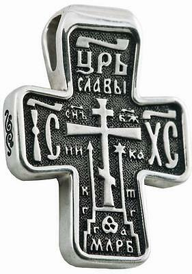 Russisch-Greek Orthodoxe 925 Silber Kreuz  JESUS CHRISTUS